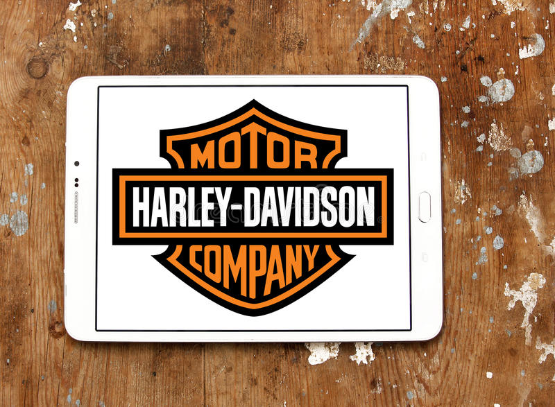 Harley davidson motor logo stock images