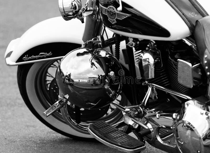 Harley Davidson motorbike royaltyfri bild