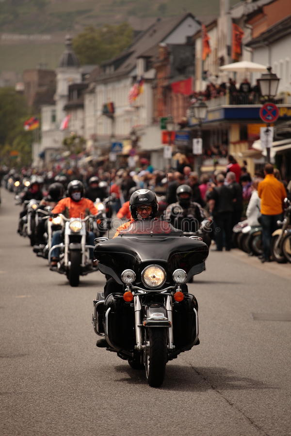 Harley Davidson Motorcade royalty free stock photo