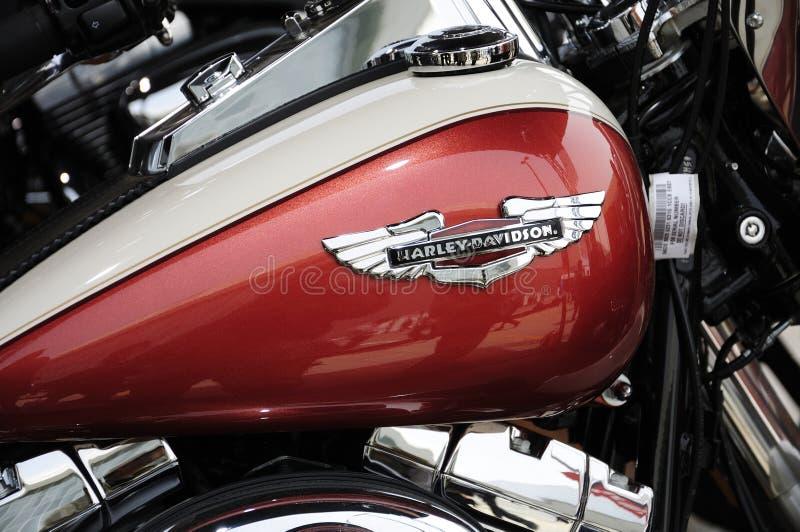 Harley Davidson motorcycleï¼ Auto Kina 2012 arkivbild