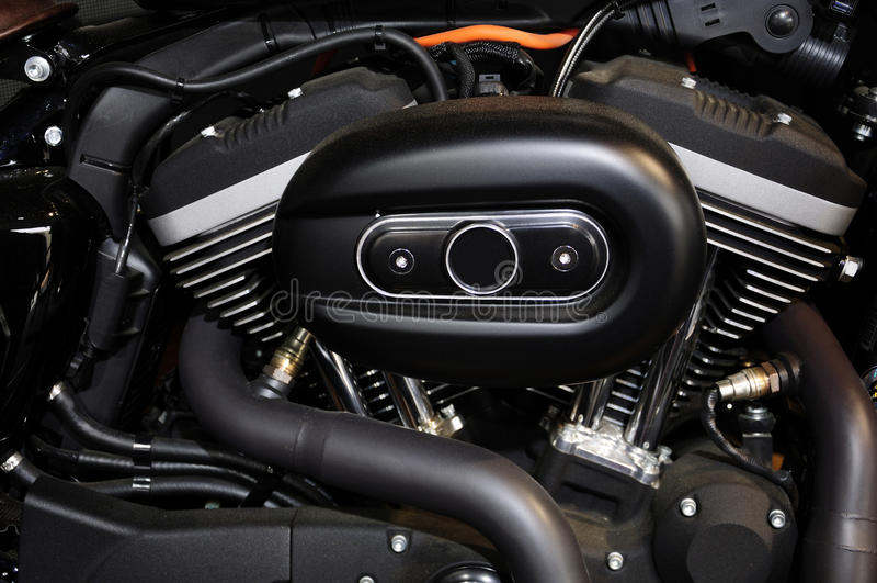 Harley Davidson Motorcycle Engine stock photography