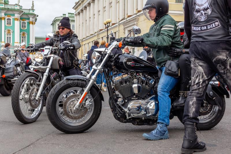 Harley-Davidson Motorcycle Festival - motards et motos photos stock