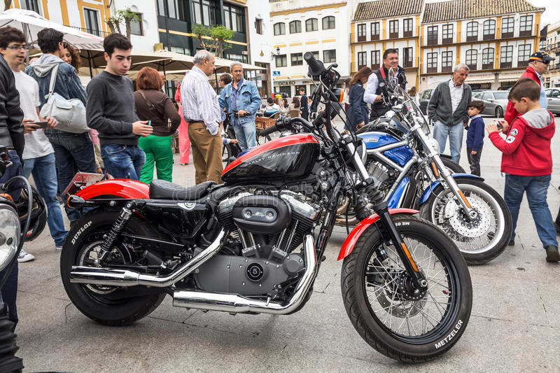 Harley Davidson motorcycles details royalty free stock photography