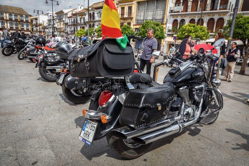 Harley Davidson motorcycles details stock image