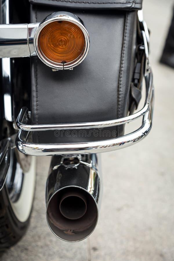 Harley Davidson motorcycles details royalty free stock photos