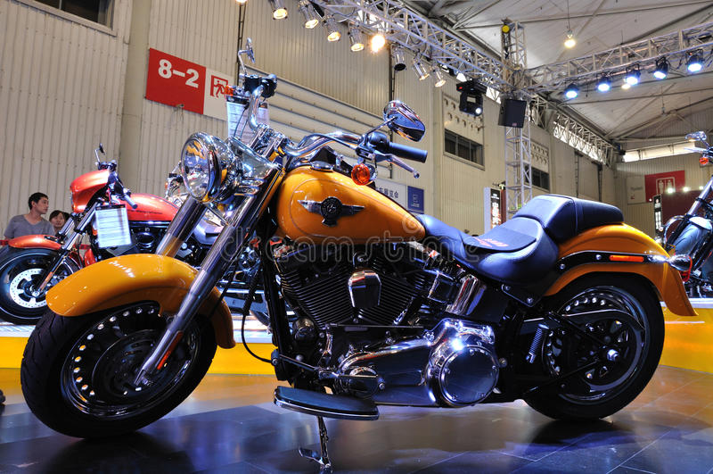 Harley Davidson Motorrad lizenzfreies stockfoto