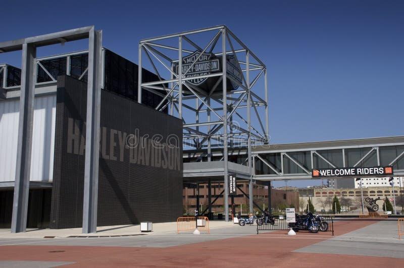 Harley Davidson Motorrad-Museum in Milwaukee, WI lizenzfreie stockfotografie