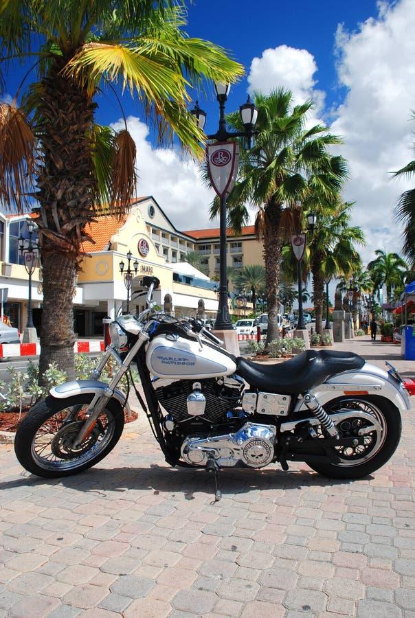 Harley Davidson, Oranjestad, Aruba royalty free stock photography