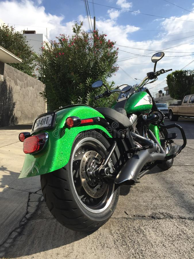 Harley Davidson Pahtboy Low Motorcycle stock afbeeldingen