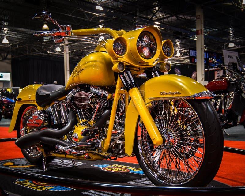 Harley Davidson personalizado, mostra da motocicleta de Michigan foto de stock