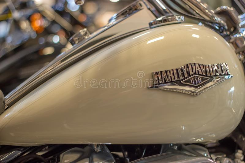 Harley Davidson Road King Custom Model photographie stock