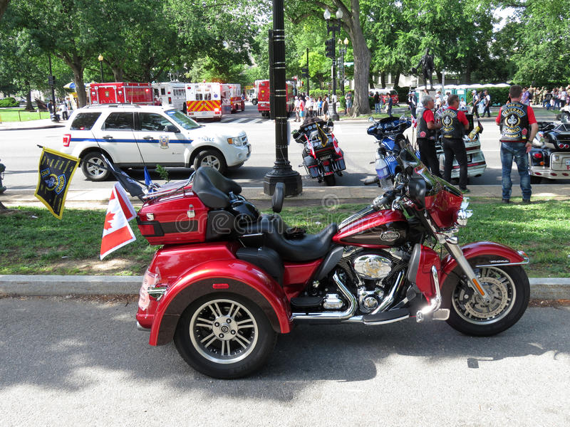 Harley Davidson Rolling Thunder Motorcycle royalty free stock images