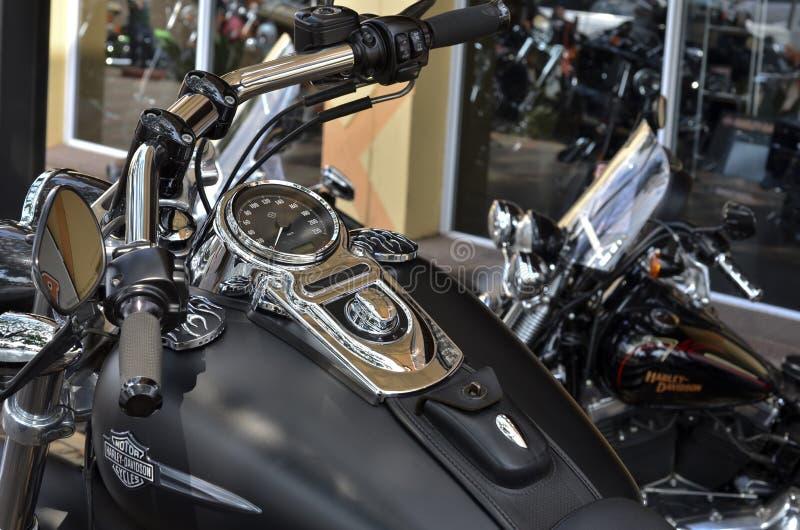 Harley davidson speedometer stock photography