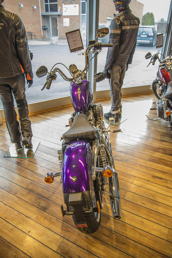 2014 Harley-Davidson, Sportster 72. Model: XL1200V. Photo is shot in an authorized Harley-Davidson shop in Sarpsborg, Norway one day in March 2014. Telephone royalty free stock images