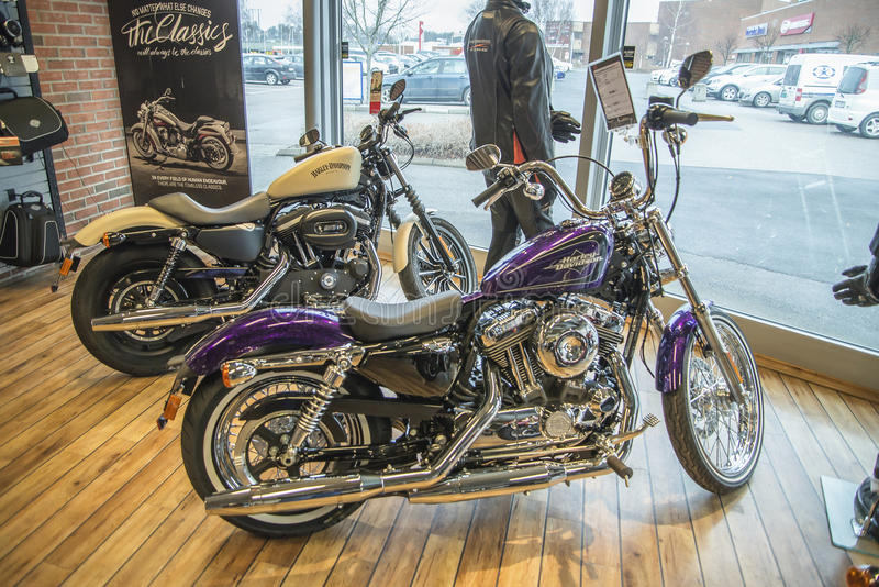 2014 Harley-Davidson, Sportster 72. Model: XL1200V. Photo is shot in an authorized Harley-Davidson shop in Sarpsborg, Norway one day in March 2014. Telephone stock images