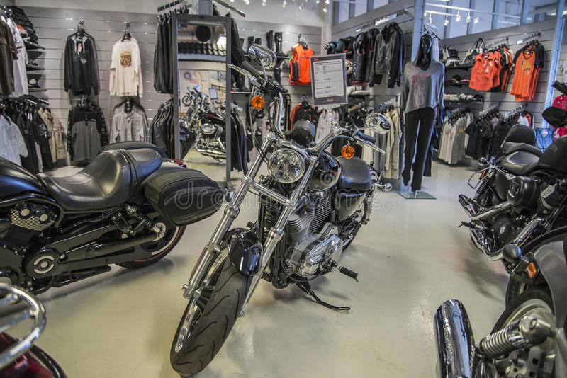 2013 Harley-Davidson, Sportster Super Low. Model: XL883L. Photo is shot in an authorized Harley-Davidson shop in Sarpsborg, Norway one day in March 2014 royalty free stock images