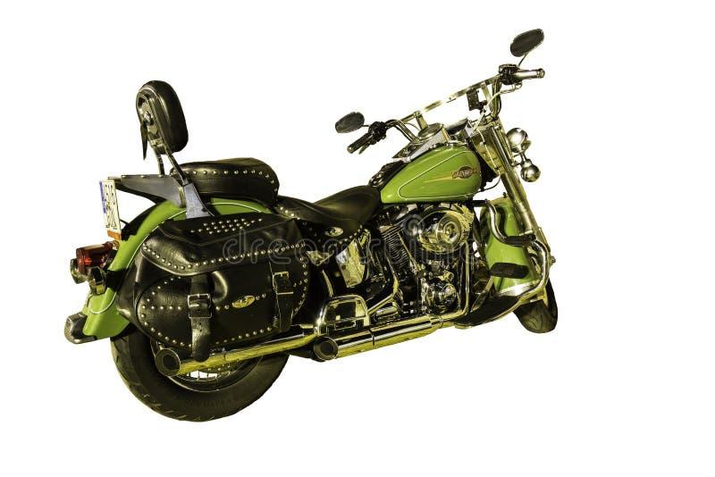 Harley Davidson sur fond blanc image stock
