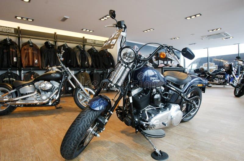 Harley Davidson toont Zaal stock foto's