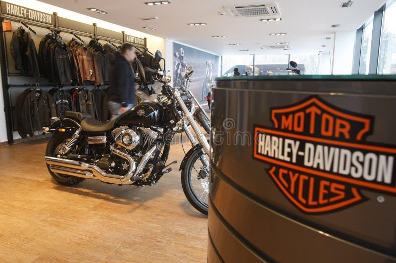 Harley Davidson toont Zaal royalty-vrije stock foto's