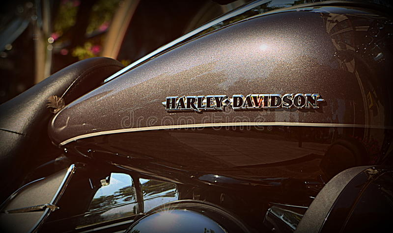 Harley Davidson-uel Behälter lizenzfreies stockfoto