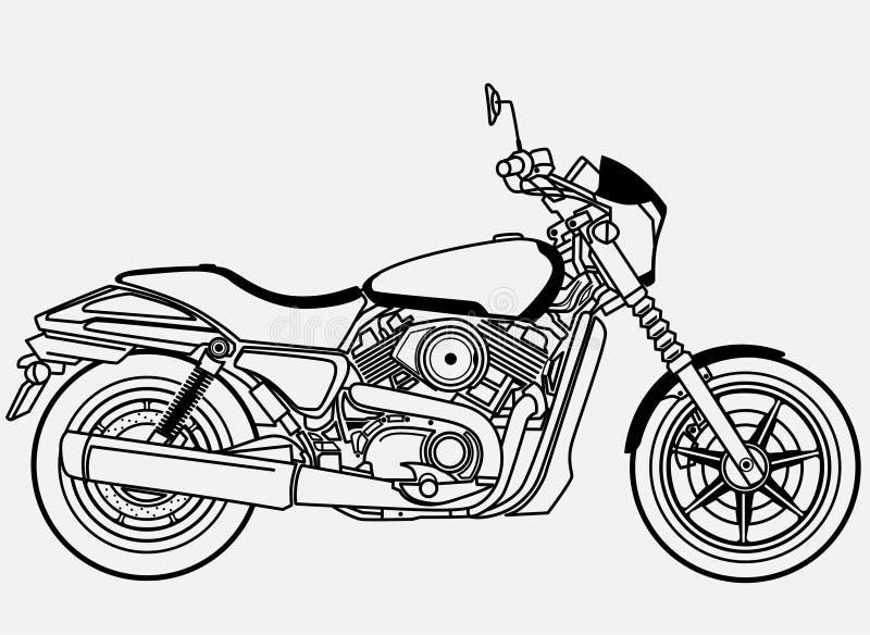 Harley Davidson ulicy 500 klamerki sztuka ilustracji
