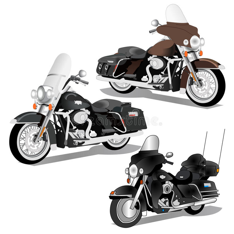 Harley Davidson 3 in 1 Vector royalty-vrije illustratie