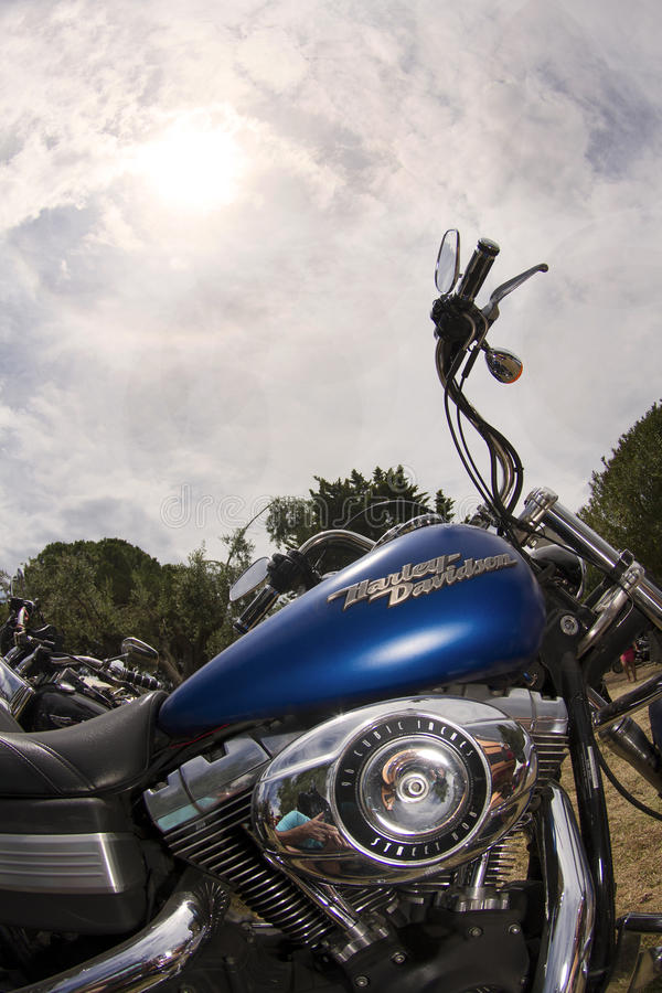 Harley et ciel photos stock