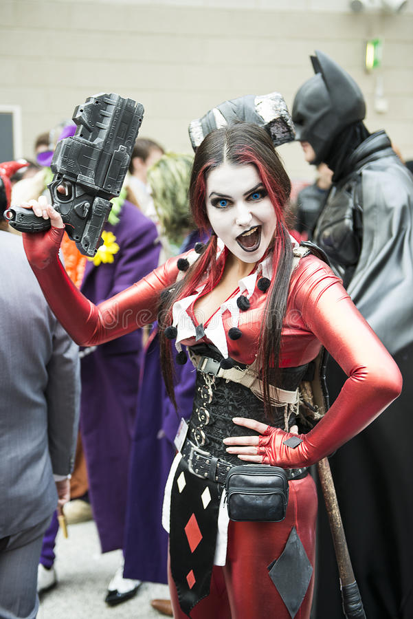 Harley Quinn lizenzfreie stockfotos