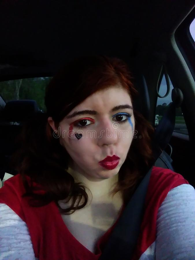 Harley Quinn cosplay стоковое фото