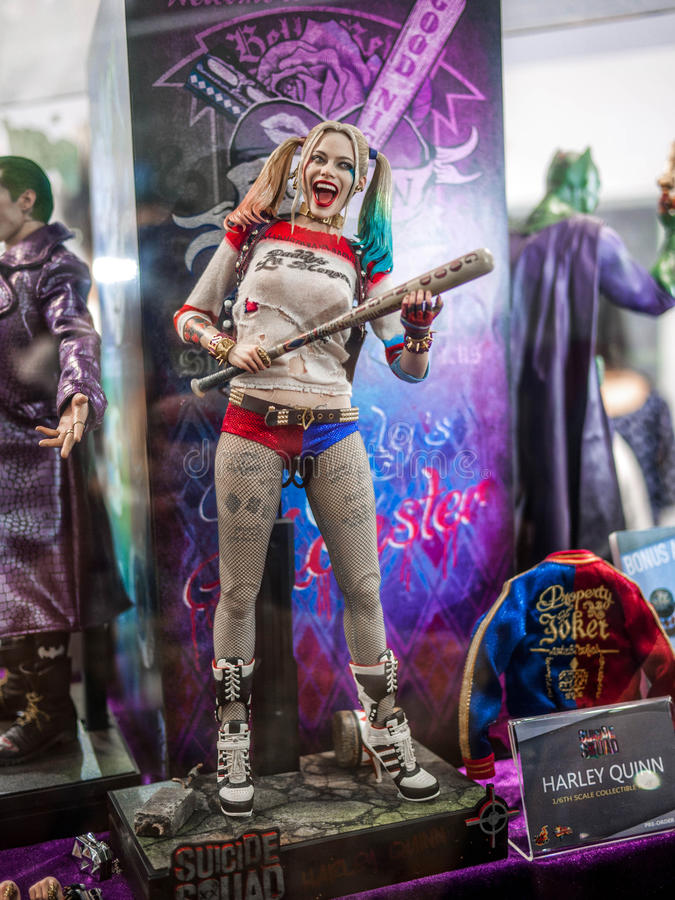 Harley Quinn i Ani-Com & lekar Hong Kong royaltyfria bilder