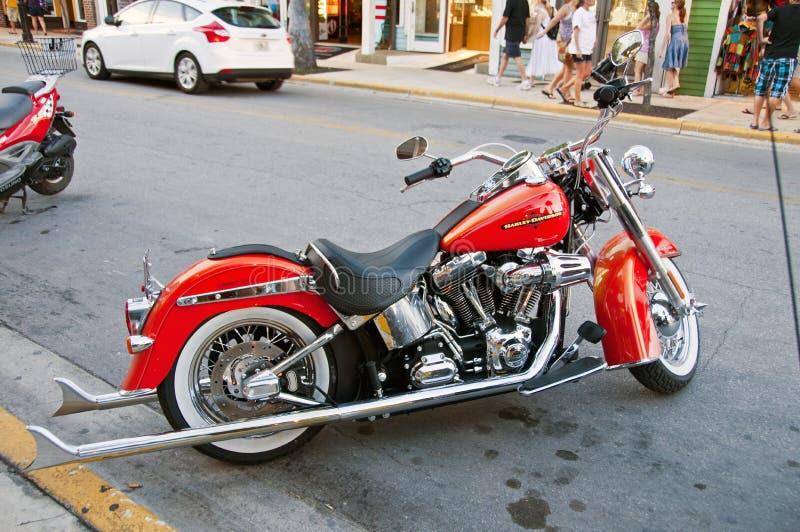 Harley rosso fotografie stock