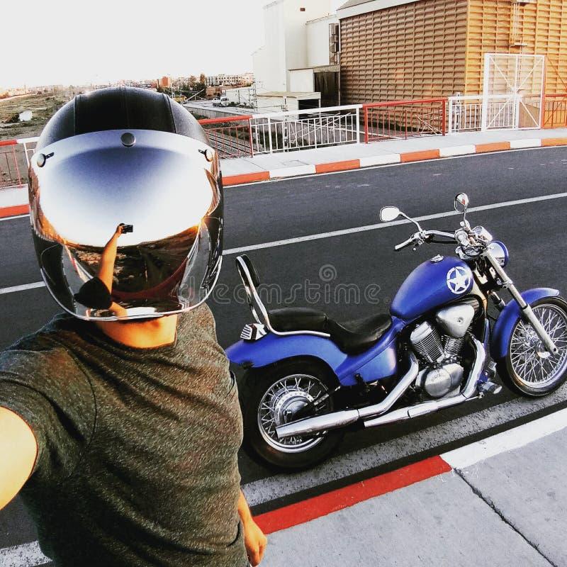 Harley sahar de encargo davidson del turismo de Marruecos Marrakesh de la sombra 600 de Honda fotos de archivo libres de regalías