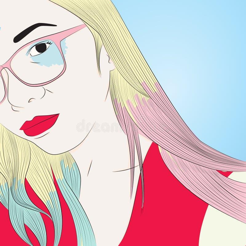 Harley-selfportrait vector illustration