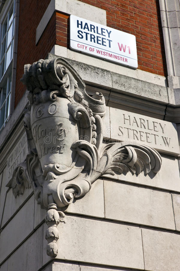 Harley Straße in London stockbilder