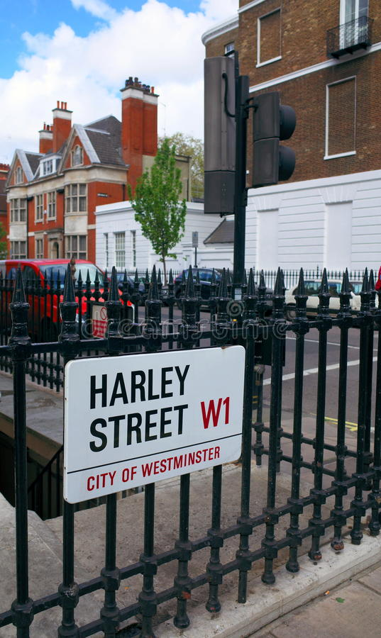 Harley Street London royaltyfria bilder