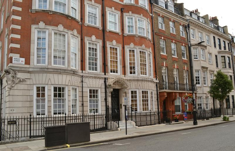 Harley Street London photographie stock libre de droits