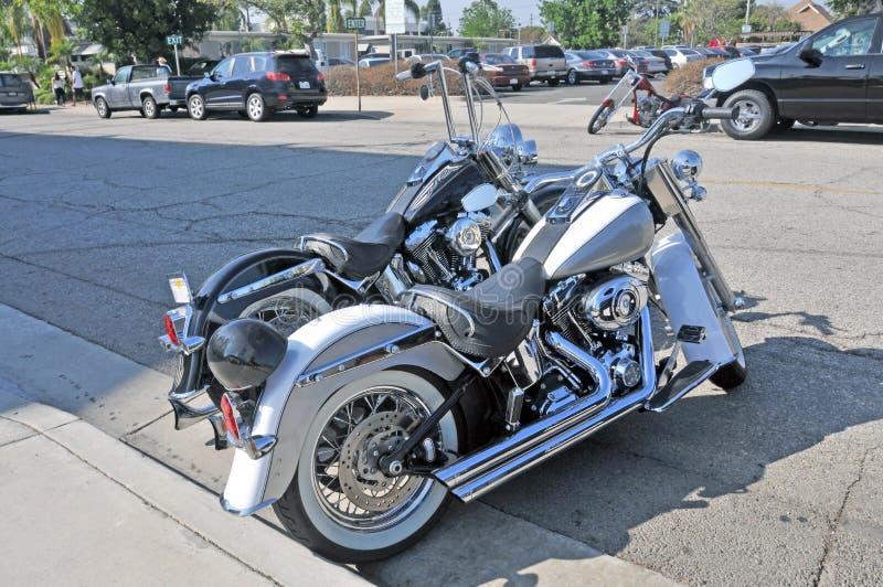 Harleys и тяпка стоковые изображения rf