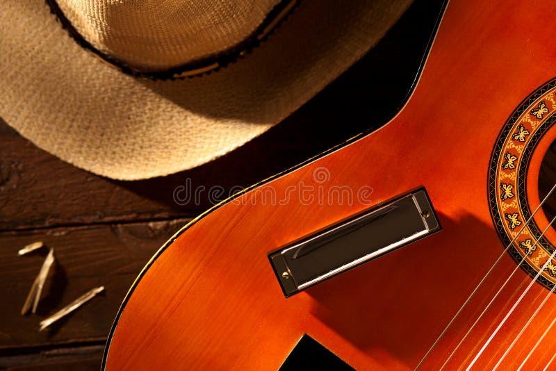 Harmônica na guitarra foto de stock royalty free