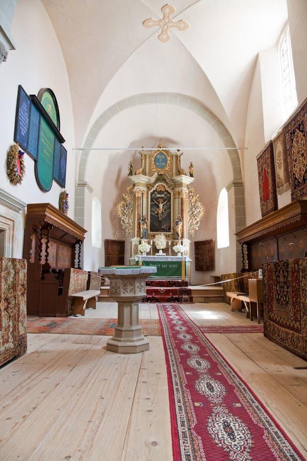 Harman fortificou a igreja imagens de stock