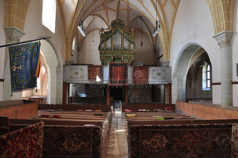 Harman fortificou a igreja, interior imagens de stock royalty free