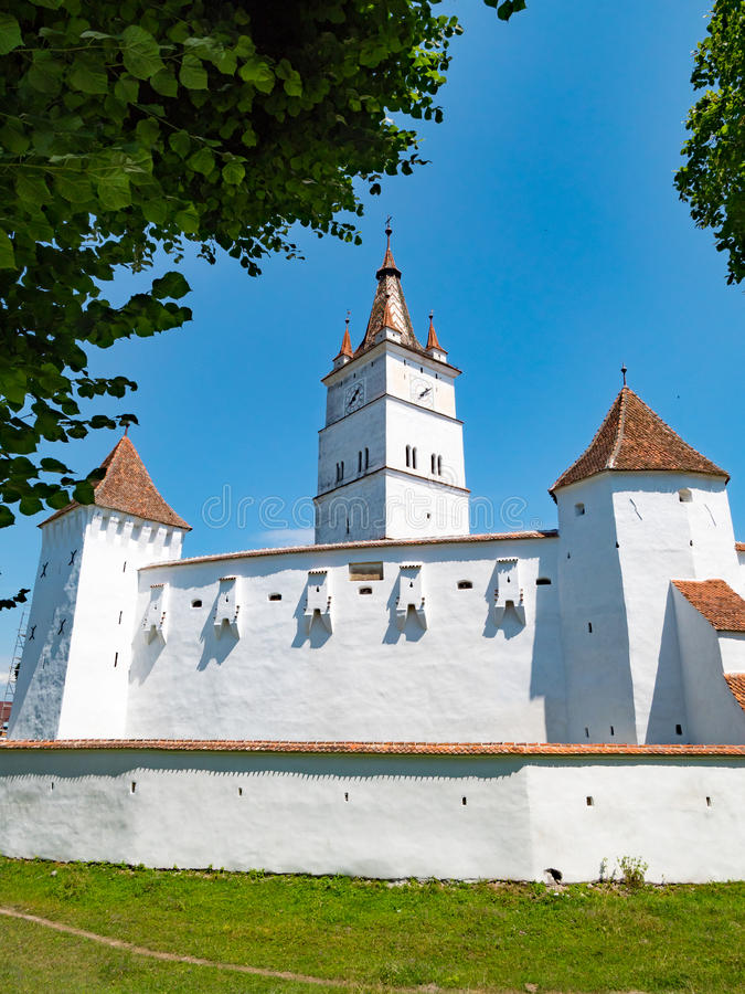 Harman Fortified Church perto de Brasov, Romênia foto de stock