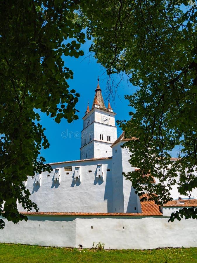 Harman Fortified Church perto de Brasov, Romênia fotos de stock
