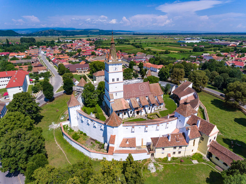 Harman Fortified Church perto de Brasov, Romênia fotografia de stock royalty free