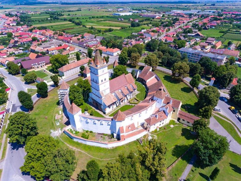 Harman Fortified Church perto de Brasov, Romênia imagens de stock