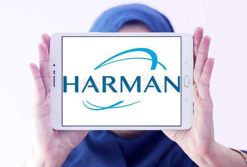 Harman International Industries-embleem royalty-vrije stock afbeelding