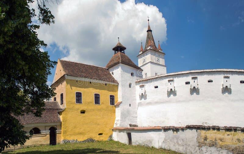 Harman versterkte kerk, Transsylvanië, Roemenië stock foto