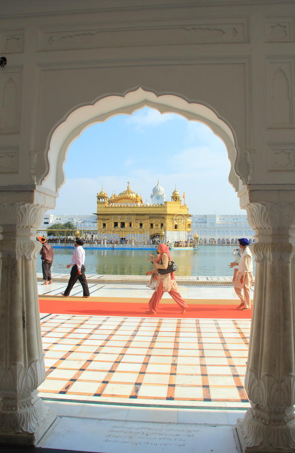 The Harmandir Sahib(Golden Temple). stock image