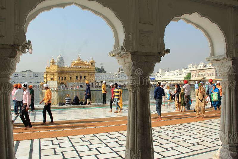 Golden Temple-4. The Harmandir Sahib The Golden Temple is the holiest shrine in Sikhism. It is located in the city of Amritsar - India stock images