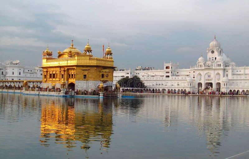 Harmandir Sahib - goldener Tempel, in Amritsar, Indien stockfotografie