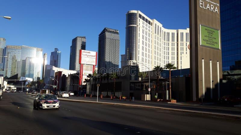 Harmon Ave in Las Vegas, Nevada, USA stock photography
